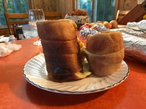 Two chimney cakes